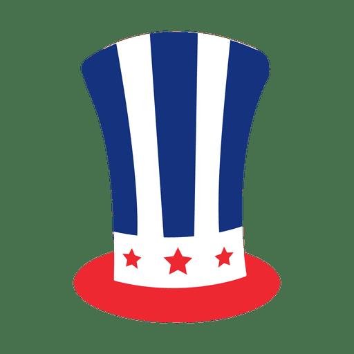 American flag print hat Transparent PNG