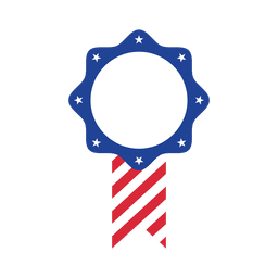 American flag star label