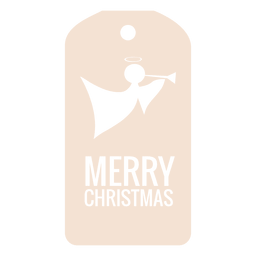 Angel die cut xmas tag