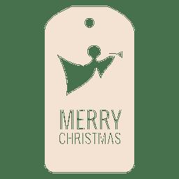 Angel troquelado etiqueta de Navidad