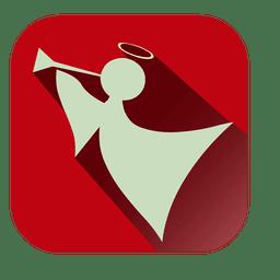 Engel rotes Quadrat-Symbol