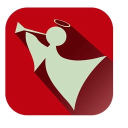 Icono de cuadrado rojo angel