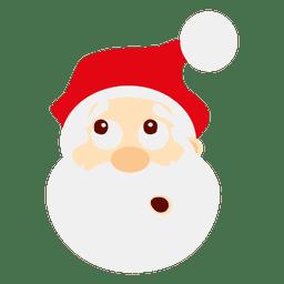 Anguished santa claus emoticon