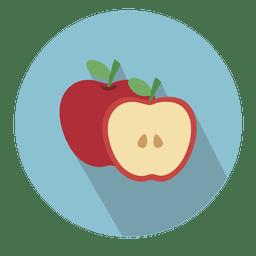 Ícone de círculo de maçã com sombra