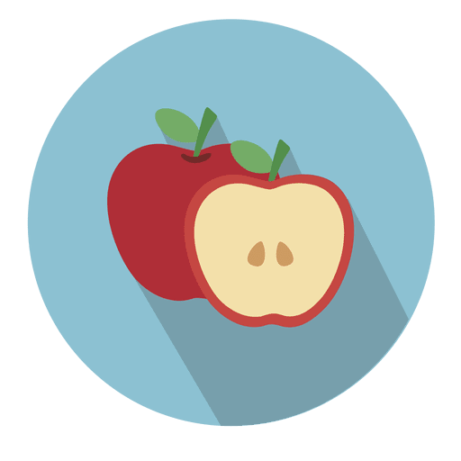 Apple circle icon with drop shadow Transparent PNG