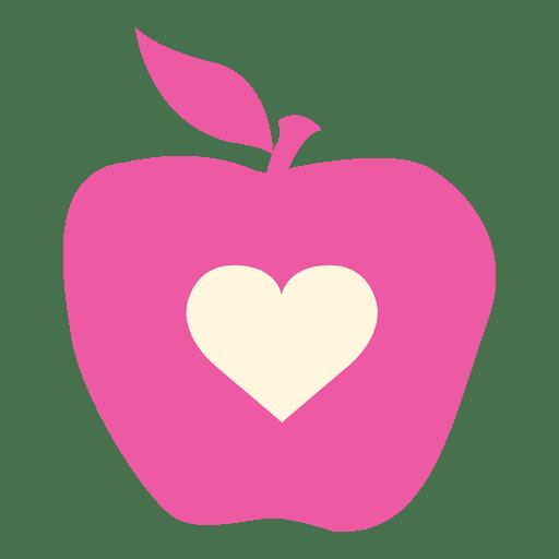 Apple heart flat icon