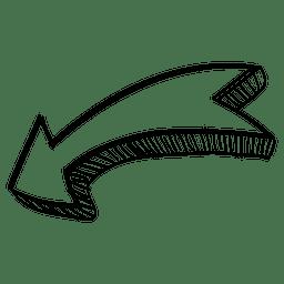 Fita curva de seta