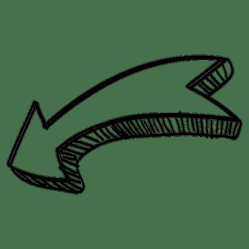 Flecha curva cinta Transparent PNG