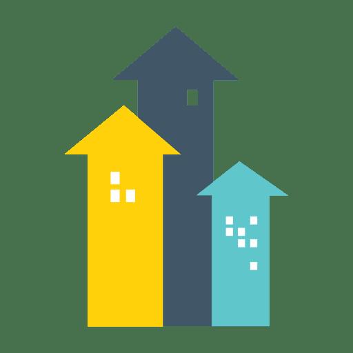 casas de bienes raíces icono de flecha - descargar png/svg ... - Bienes Inmuebles Dibujos