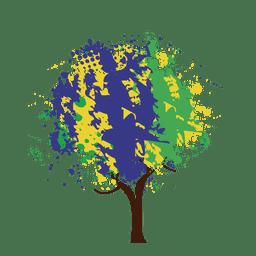 Árvore abstrata artística pintada