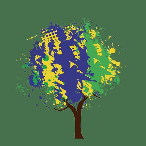 Árbol abstracto pintado artístico