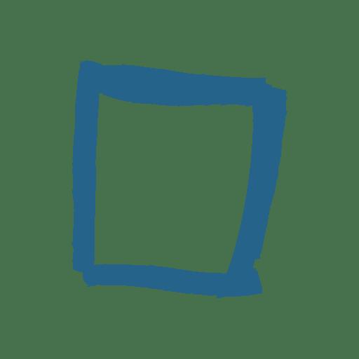Cuadro de mensaje cuadrado artístico Transparent PNG