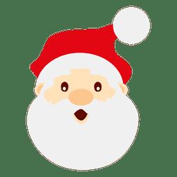 Erstauntes Weihnachtsmanngesicht