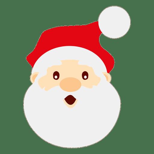 astonished santa claus face transparent png - Santa Santa Claus