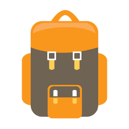 Icono de mochila camping