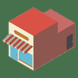 Icono isométrico de panadería