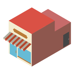 Isometrische Ikone der Bäckerei