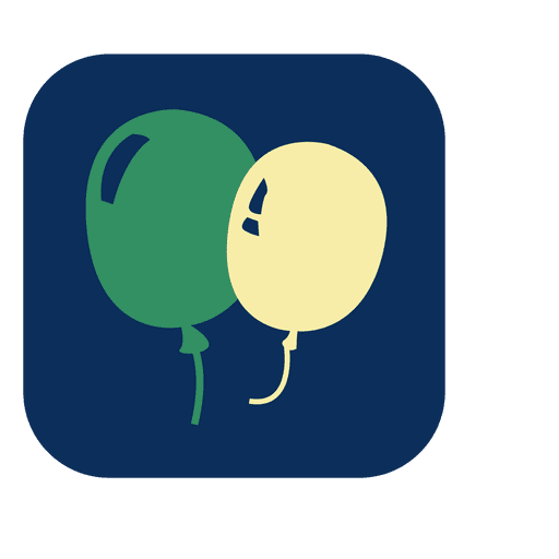 Square Balloons Icon Transparent PNG