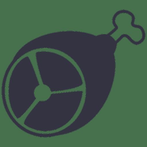 Icono plano de carne a la parrilla