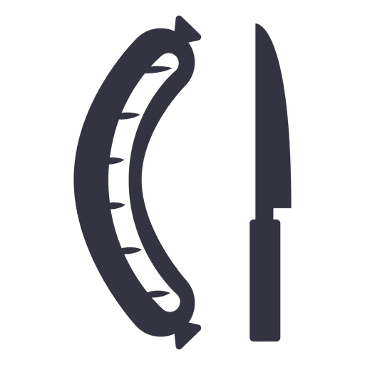 Sausage and knife icon Transparent PNG
