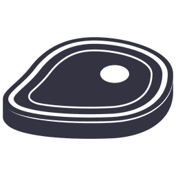 Barbecue steak flat icon