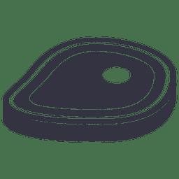Icono plano de bistec de barbacoa