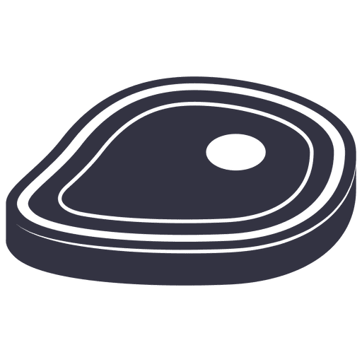 Barbecue steak flat icon Transparent PNG