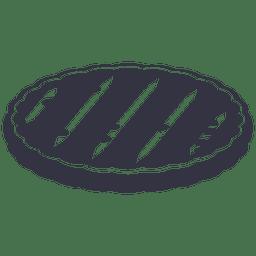 Cuchillo de barbacoa icono plana