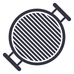 Barbecue stove flat icon