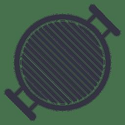 Icono de estufa de barbacoa plana
