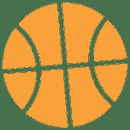 icono del baloncesto silueta
