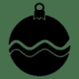 Chuchería silueta icono de navidad