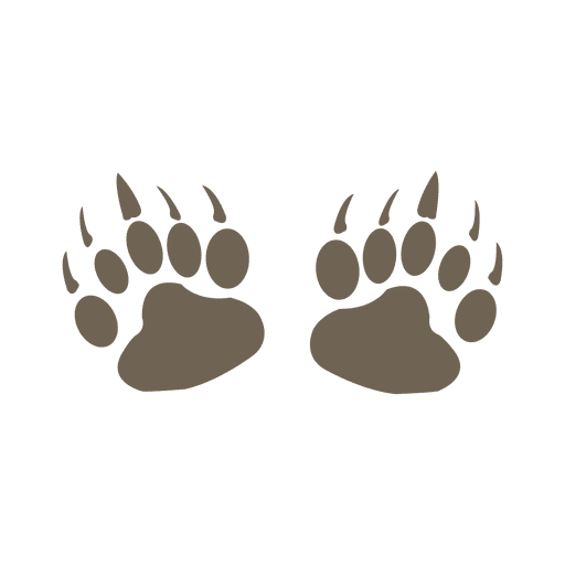 Bear footprint silhouette png