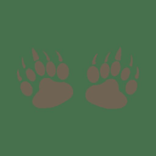 Silhouette of bear footprint png