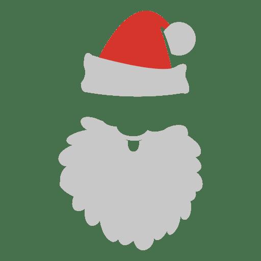 Sombrero de barba cara de santa claus Transparent PNG