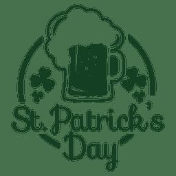 emblema de la cerveza st patrick
