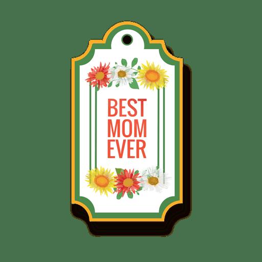 Best mom badge Transparent PNG