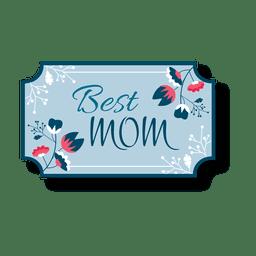 Mejor etiqueta de mamá