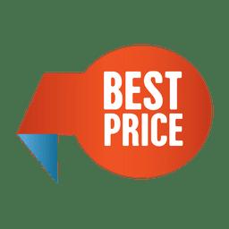 Etiqueta de mejor precio venta