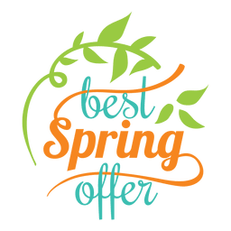 Best spring offer label