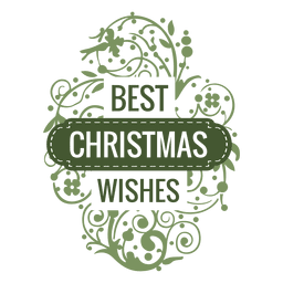 Best wishes christmas badge with ornaments