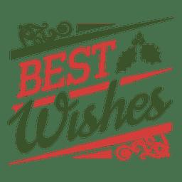 Mis mejores deseos sello tipográfico de navidad