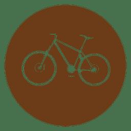 Ícone de círculo de bicicleta