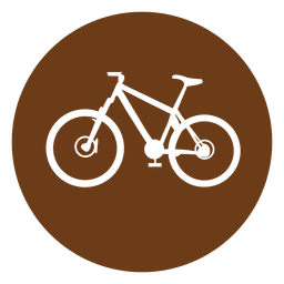 Icono del círculo de la bicicleta