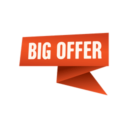 Big offer origami label
