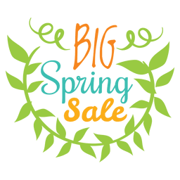 Big spring sale badge
