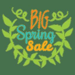 Gran insignia de venta de primavera