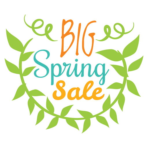 Insignia de gran venta de primavera