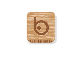 Bing wooden style icon