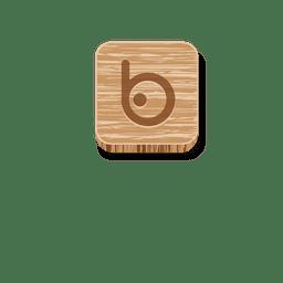 Icono de estilo de madera de Bing.